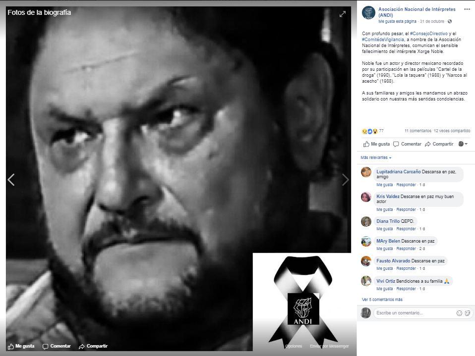 Cine mexicano se viste de luto tras fallecimiento de actor