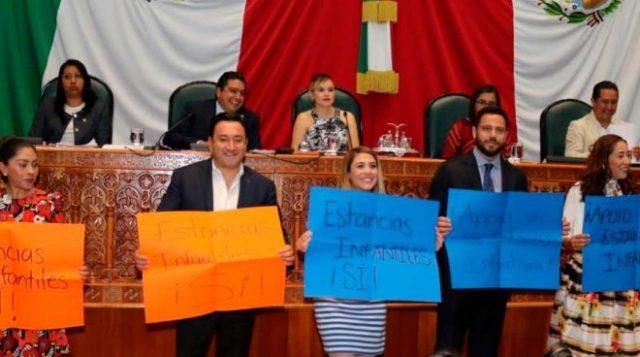 Resultado de imagen para congreso rechaza apoyo a estancias infantiles