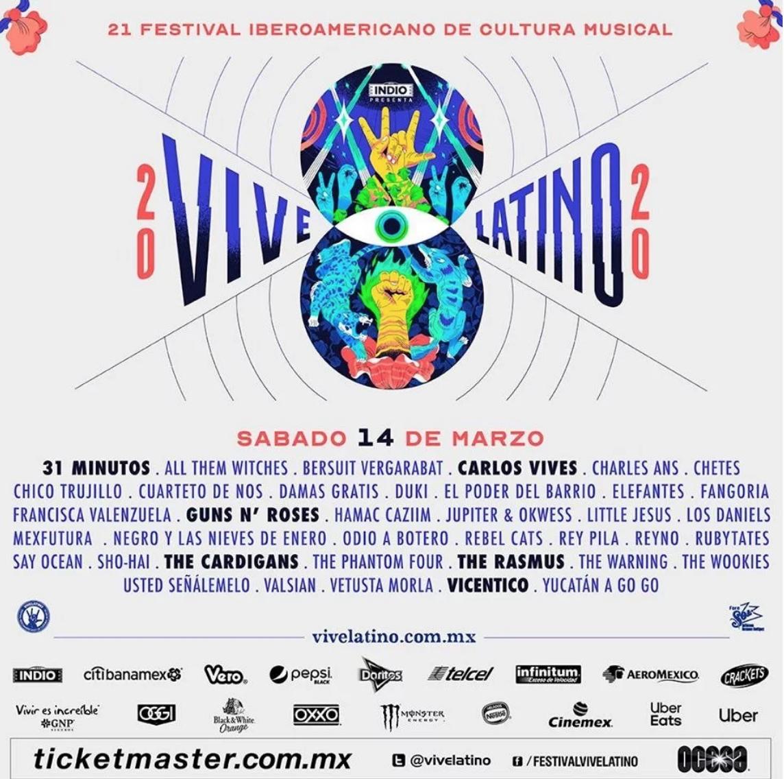 Vive Latino 2020 anuncia su cartel por día - Espectáculos