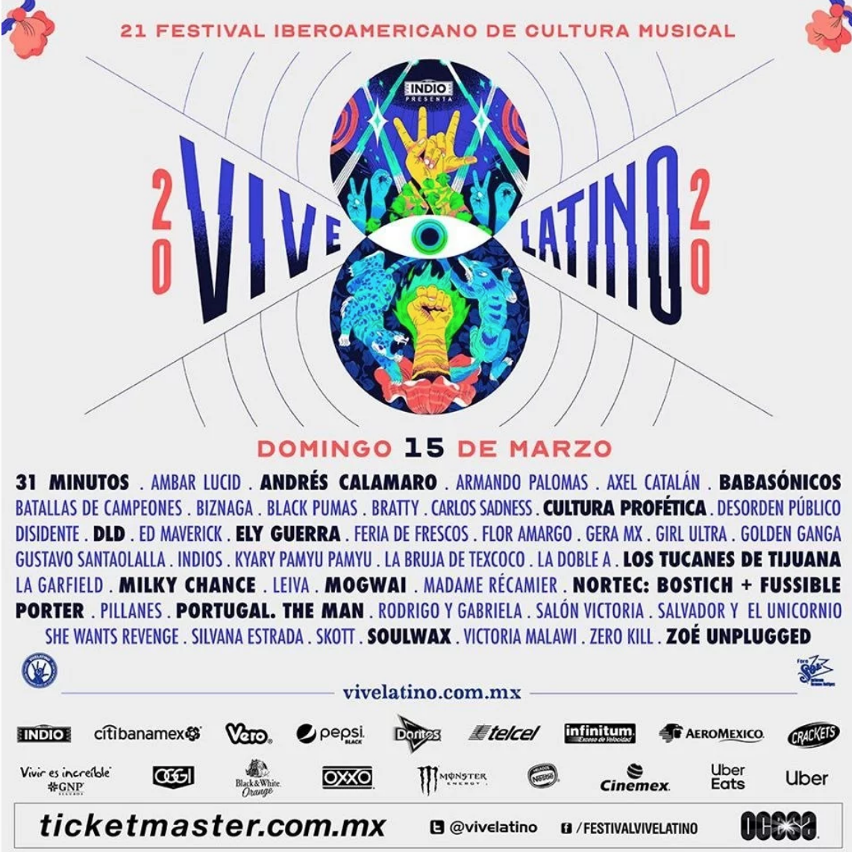 Vive Latino 2020: ¡Ya está el cartel oficial Por Días!