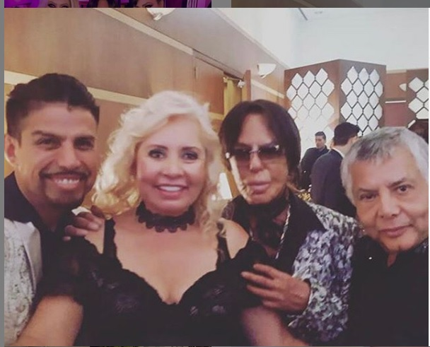 Alfredo Palacios junto a sus amistades