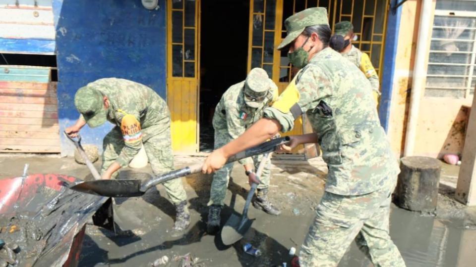 Elementos del Ejército continúan apoyando a Tabasco