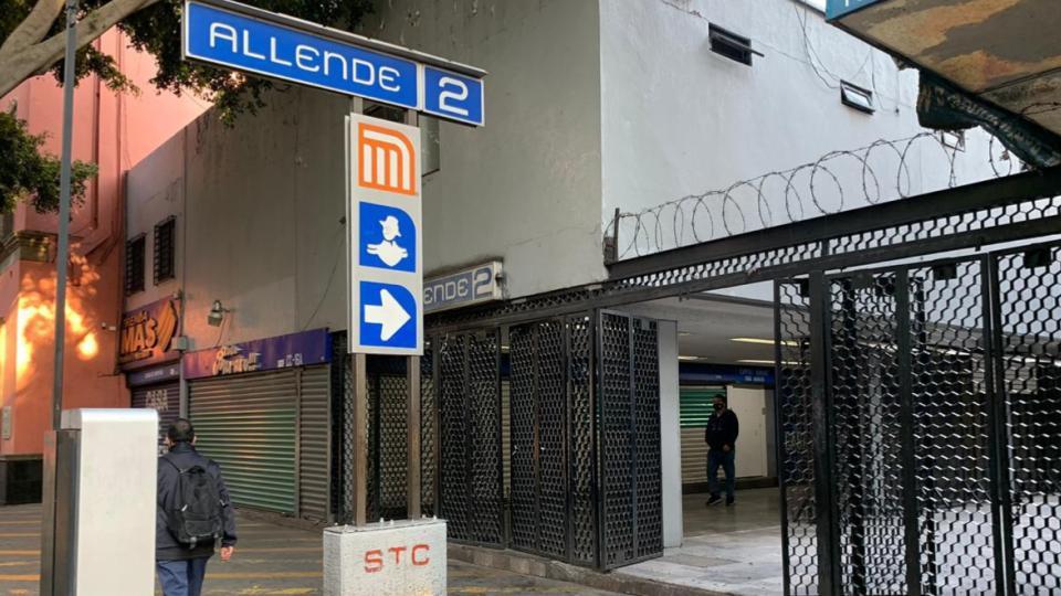 Cerrada estación Allende hasta nuevo aviso