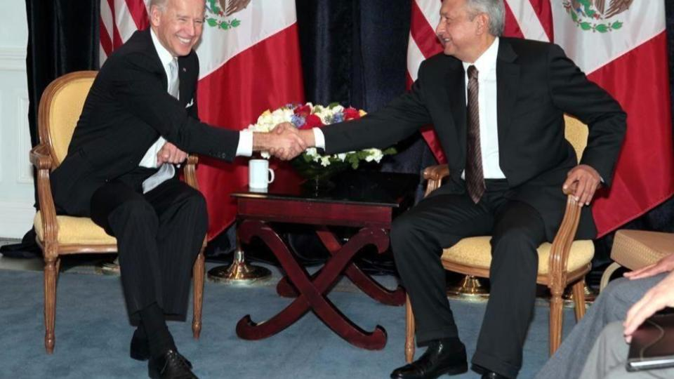 Felicita López Obrador a Joe Biden