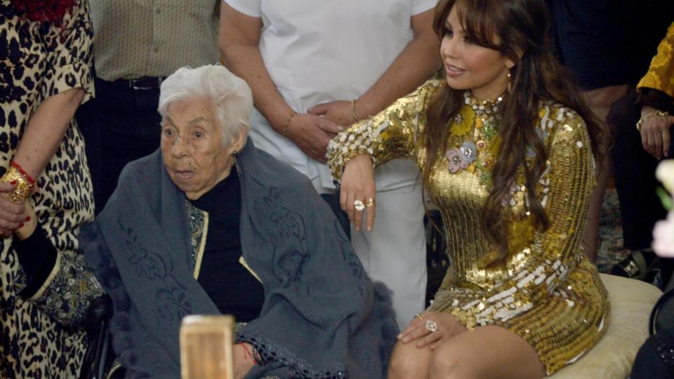 La abuelita de Thalia cumplirá 103 años