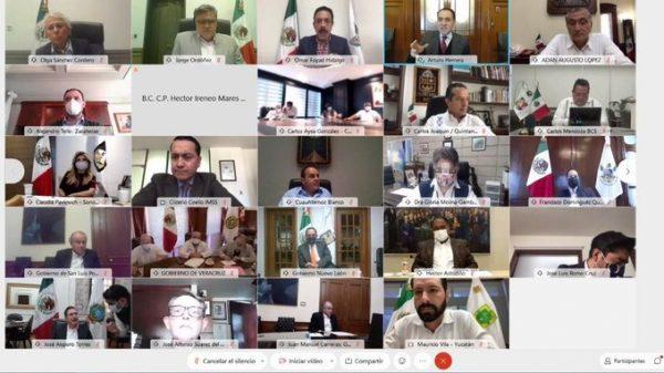 Reunión Virtual de Gobernadores.