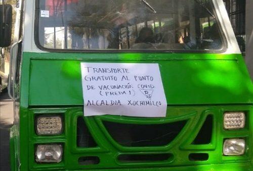 TransporteVacunacionXochimilco