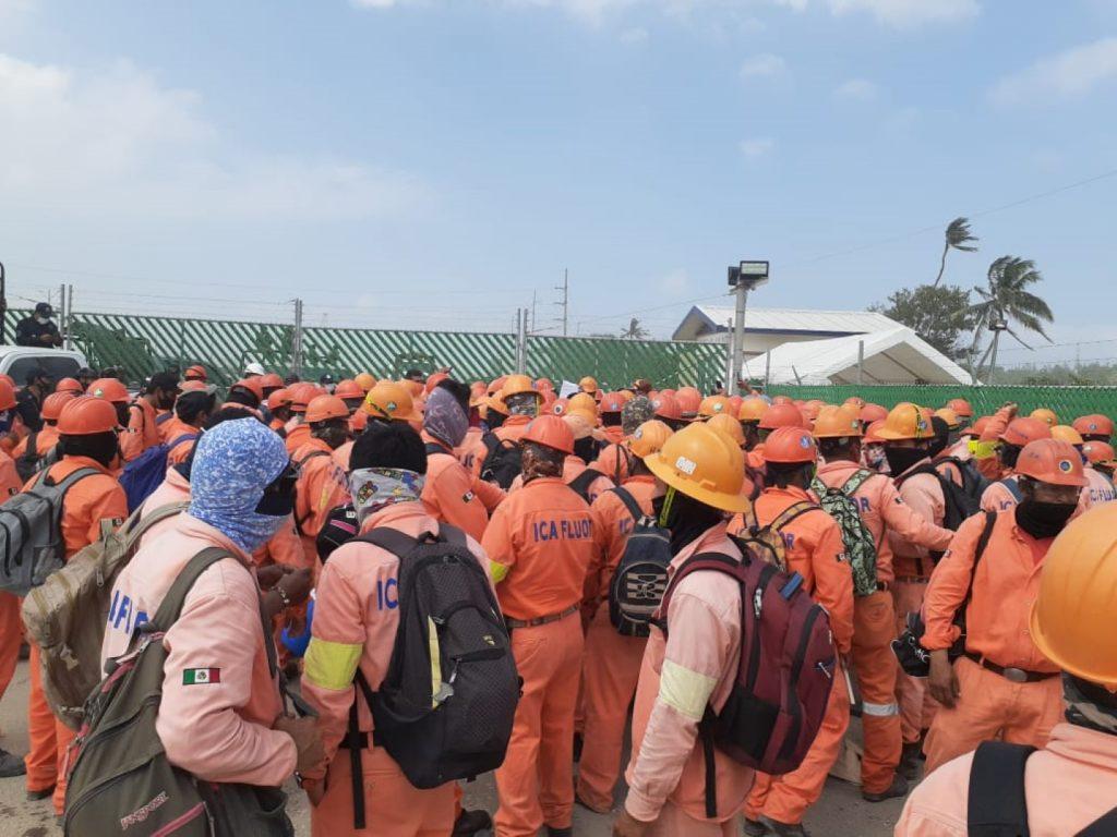 Llegan a un acuerdo obreros de ICA en Dos Bocas