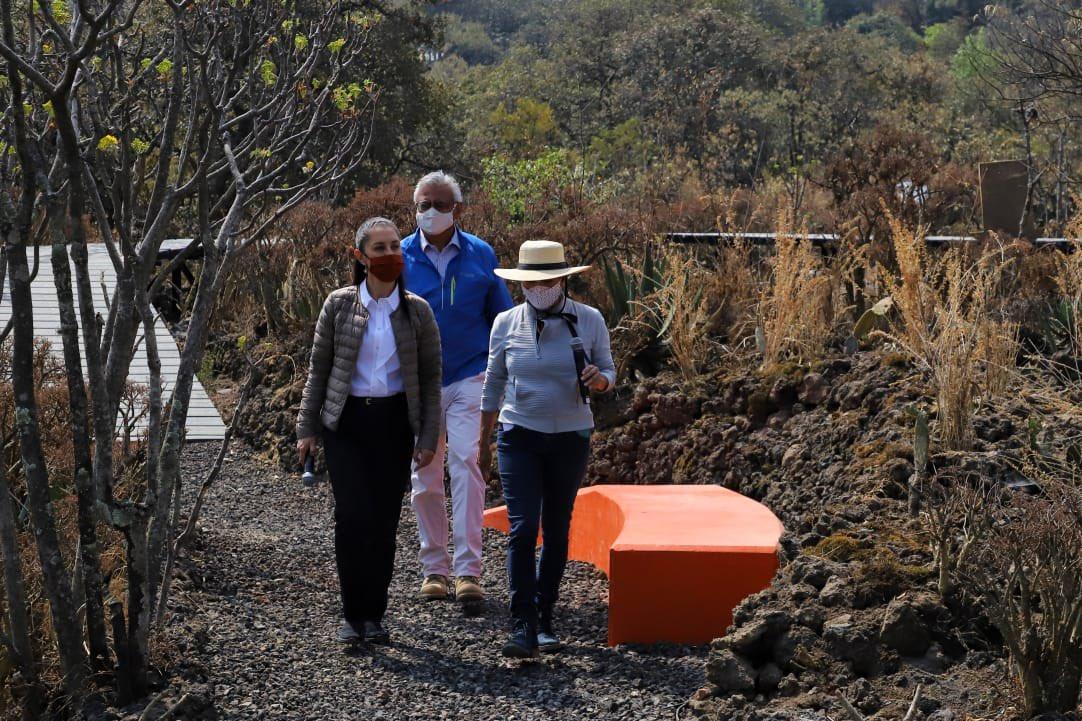Claudia Sheinbaum inaugura la segunda etapa de Rehabilitación Socioambiental para la Conservación del Parque Ecológico de la Ciudad de México.