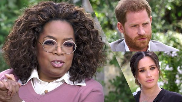 Los duques de Sussex en entrevista con Oprah Winfrey.