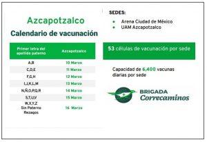 El 10 de marzo iniciará la vacunación en Azcapotzalco.