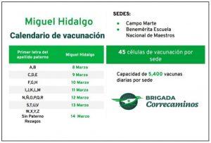 El 8 de marzo iniciará la vacunación en Miguel Hidalgo.