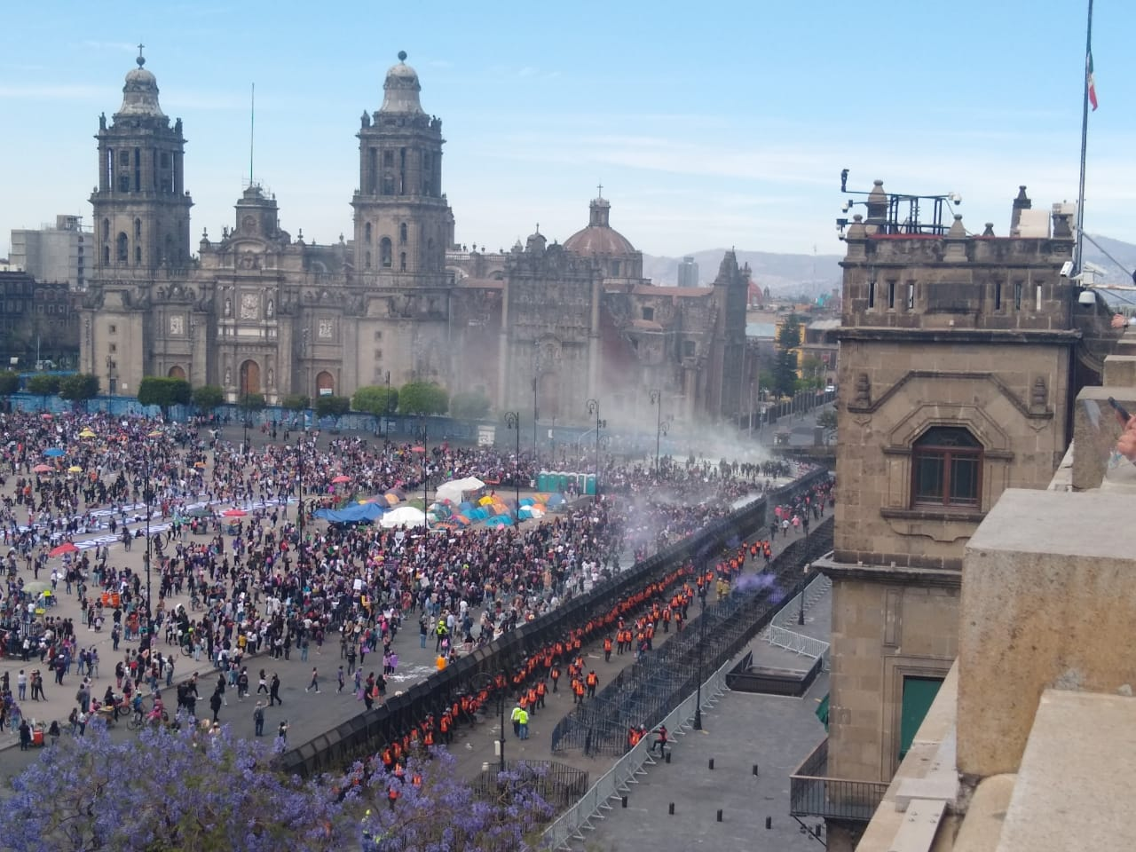 Marchas feministas en los cuatro puntos cardinales de CDMX