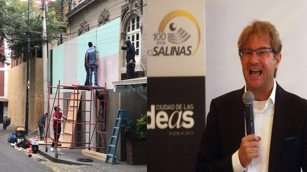 Andrés Roemer amuralla su casa previo a marchas del 8M