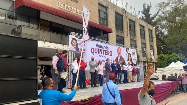 Armando Quintero arranca campaña en Iztacalco