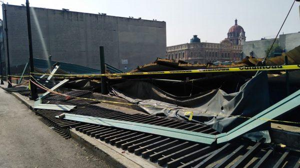 Granizo en el Templo Mayor no causó daños graves