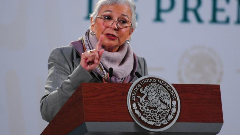 Olga Sánchez Cordero al INE.