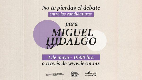 debate de la alcaldía Miguel Hidalgo