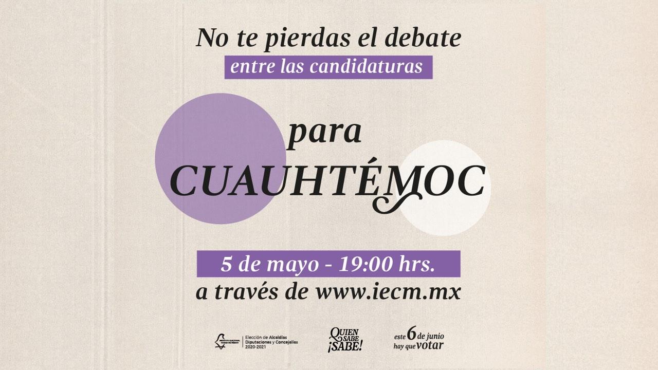 transmisión del debate de la alcaldía Cuauhtémoc