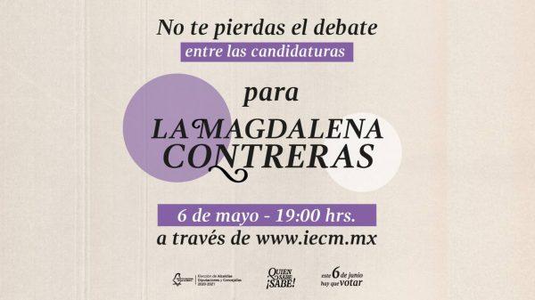 Transmisión del debate de la alcaldía Magdalena Contreras