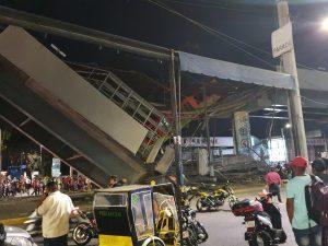 Se desploma tramo del metro, se trata de la estación Olivos.