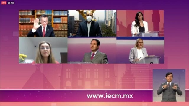 Adrián Rubalcava huye al debate en Cuajimalpa
