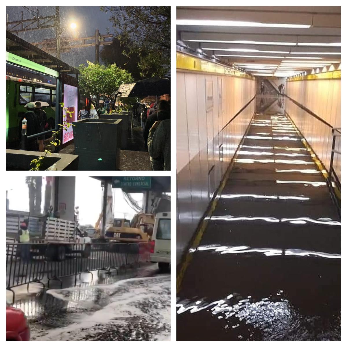 En el metro, llueve sobre mojado