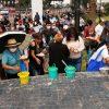 Mitin del PES en Xochimilco, hasta con tacos de canasta