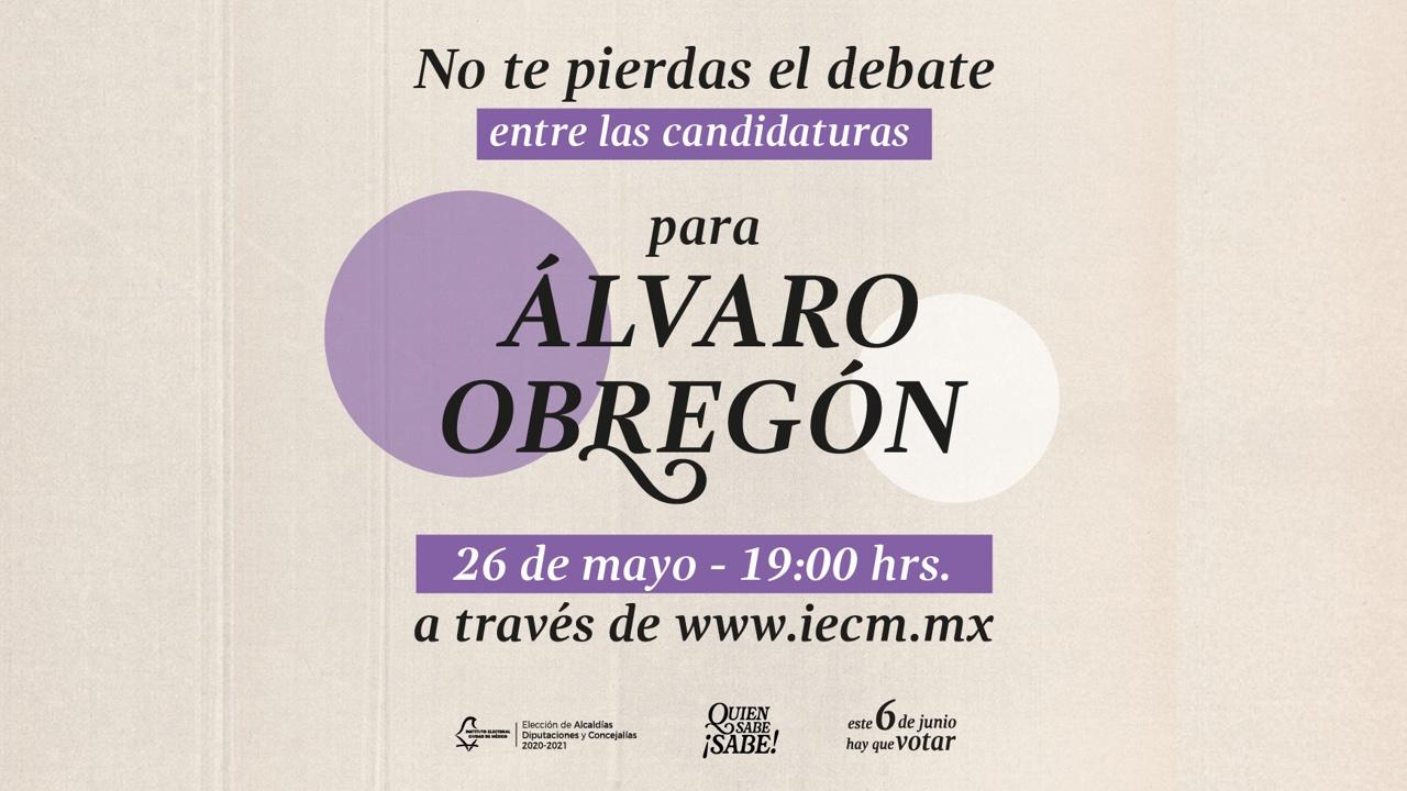debate para la alcaldía Álvaro Obregón