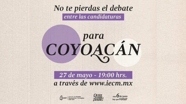 debate para la alcaldía Coyoacán