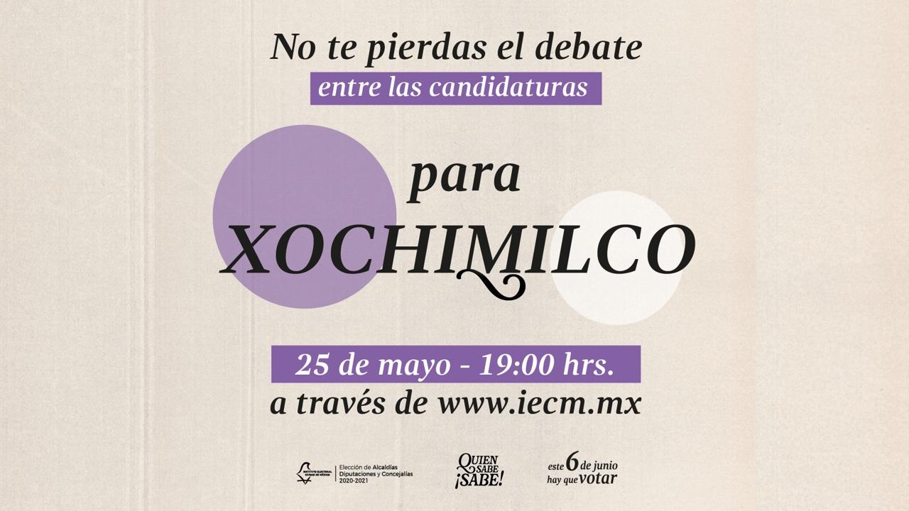 debate para la alcaldía Xochimilco