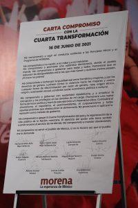 Gobernadores electos de Morena firman carta compromiso con la 4T