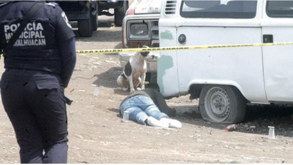 Corrió pero las balas lo bajaron, su perro cuido su cádaver