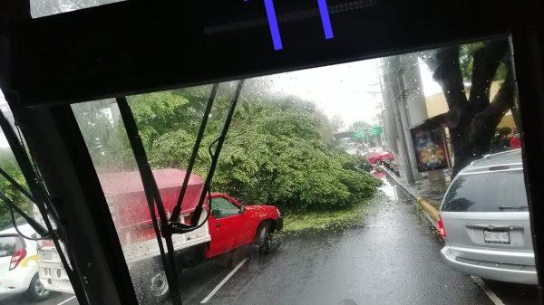 Inundaciones por fuertes lluvias en Tlalpan