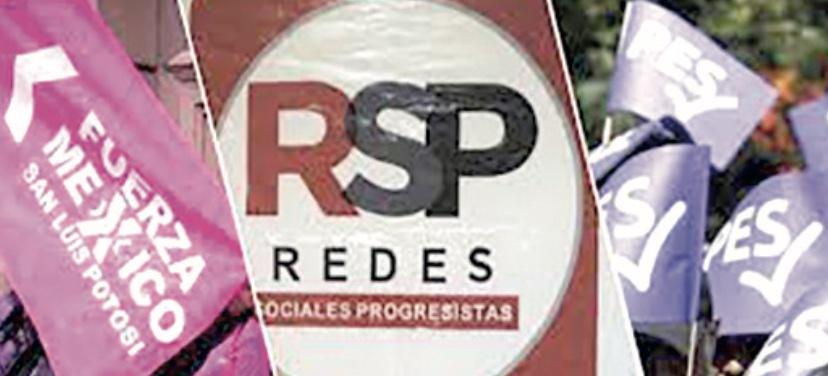 PES, RSP y Fuerza por México perderían el registro