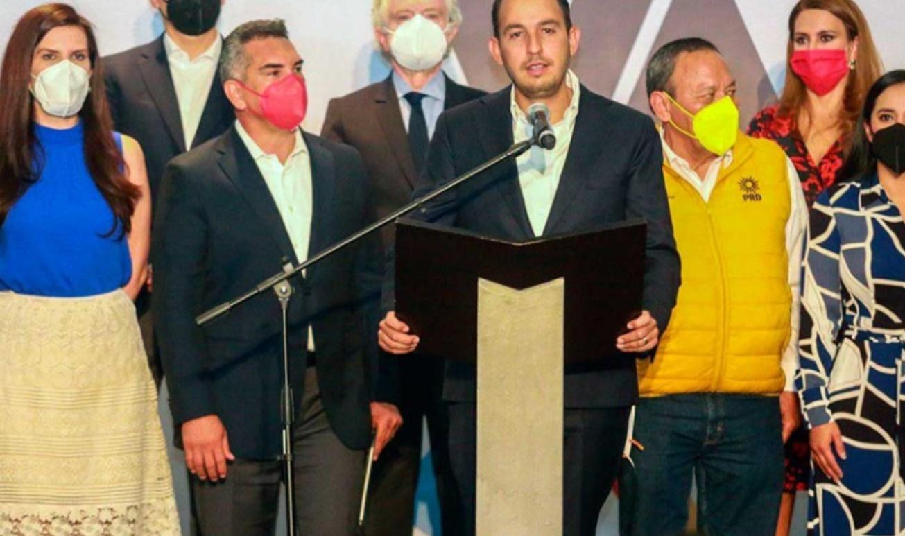 PAN, PRI y del PRD refrendan coalición rumbo al 2024