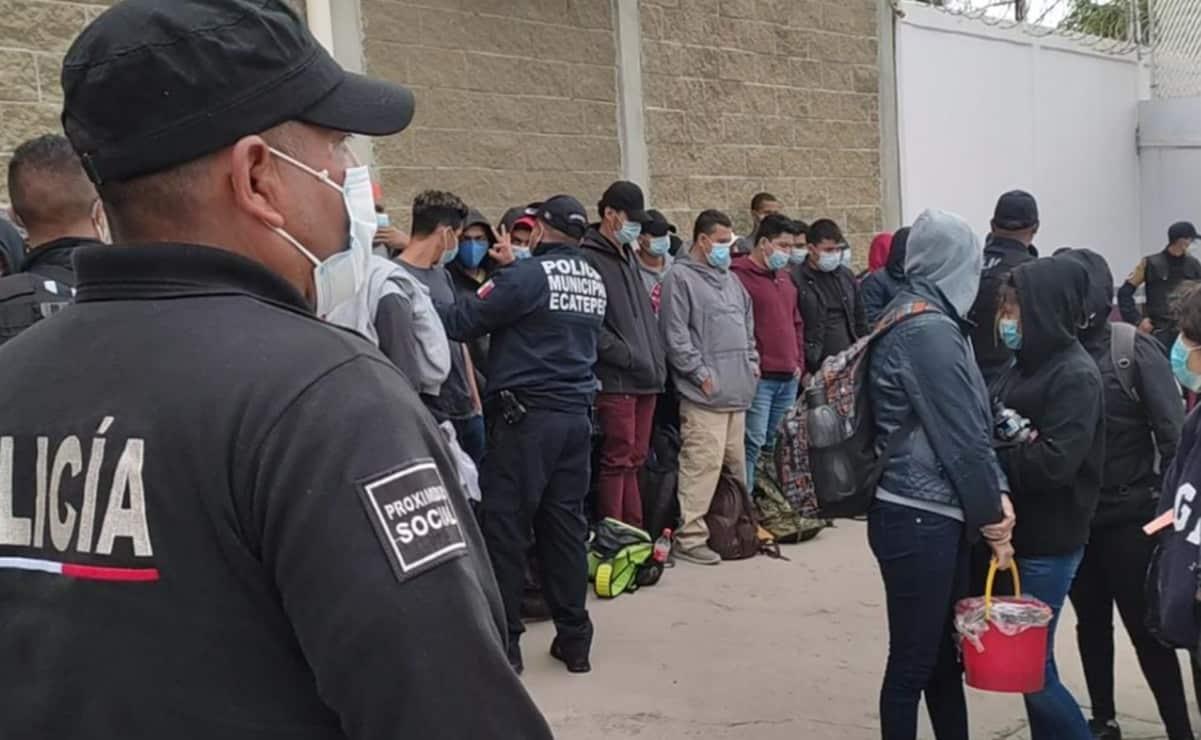 Rescatan a 74 migrantes en Ecatepec