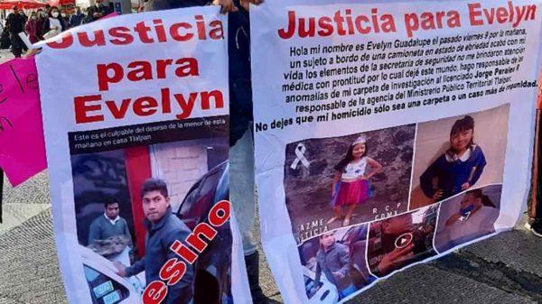 Protestan para exigir justicia por Evelyn
