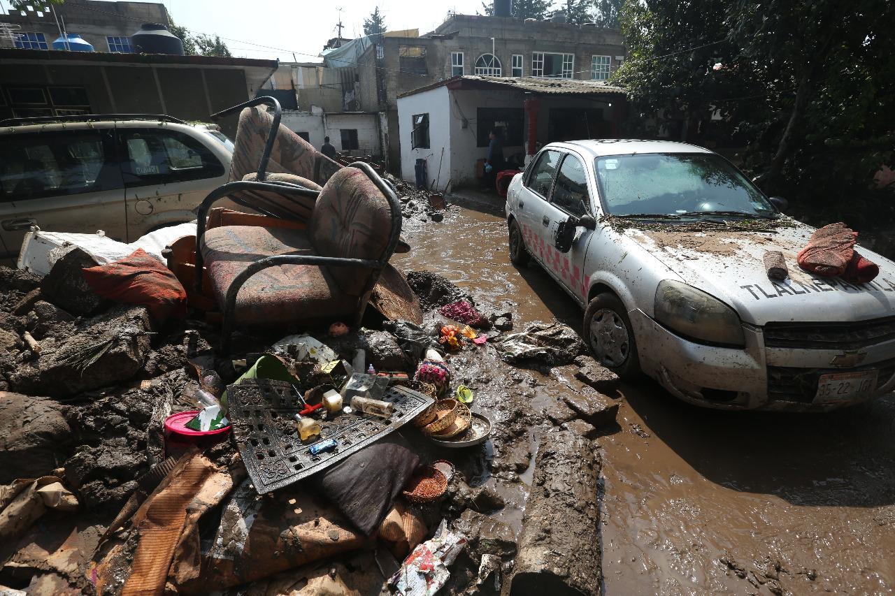 Alcaldesa pide declarar Atizapán zona de desastre por daños de tormenta
