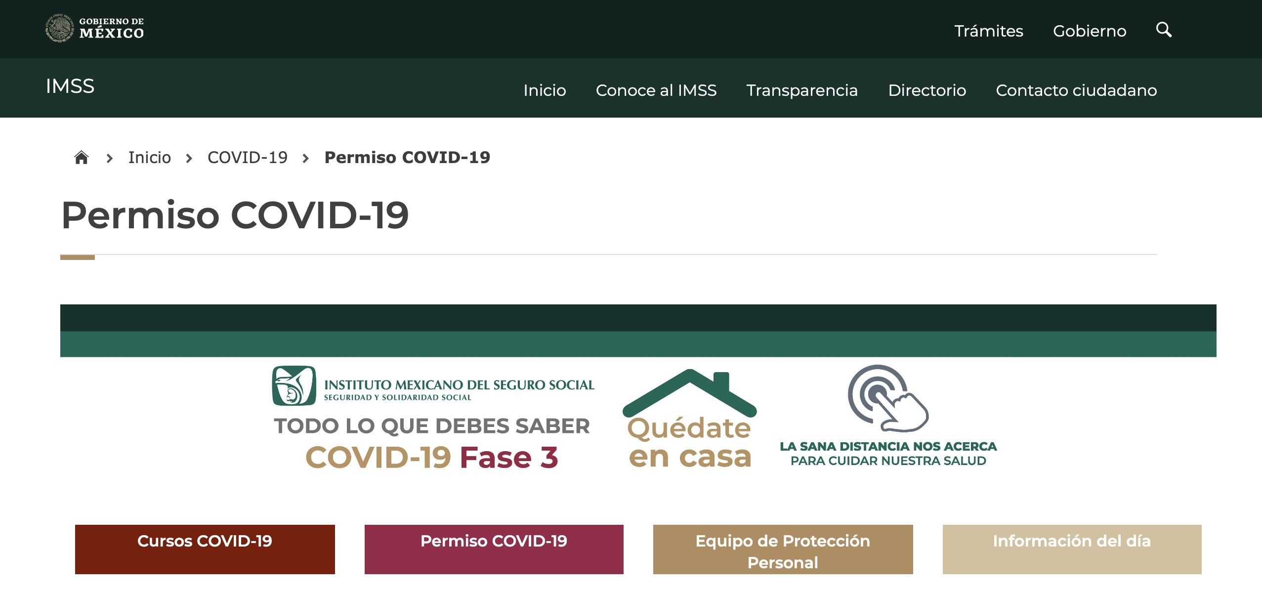 Lanza IMSS plataforma electrónica para tramitar incapacidad por COVID-19