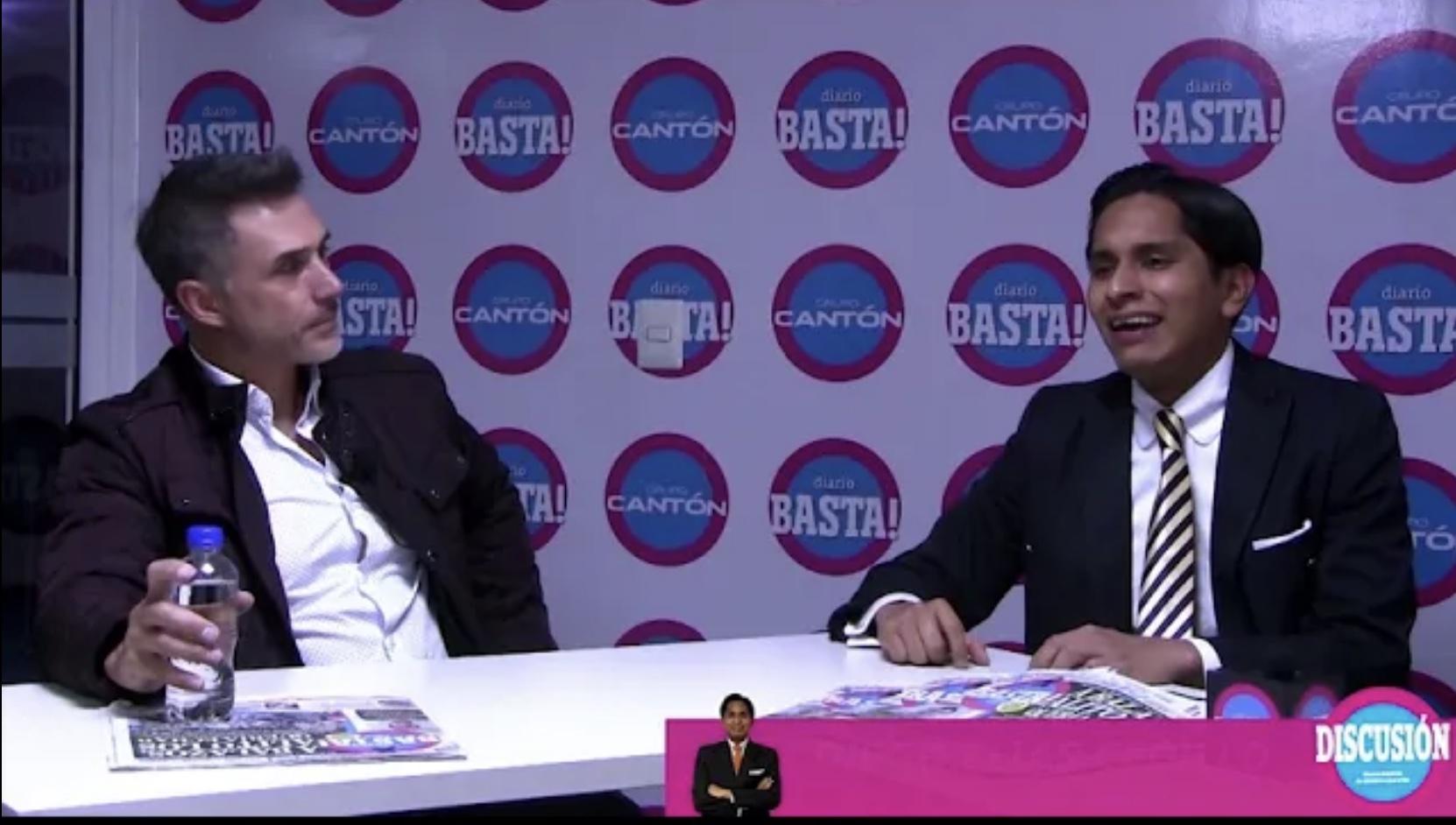 Sergio Mayer en Discusión en Basta! 2da parte