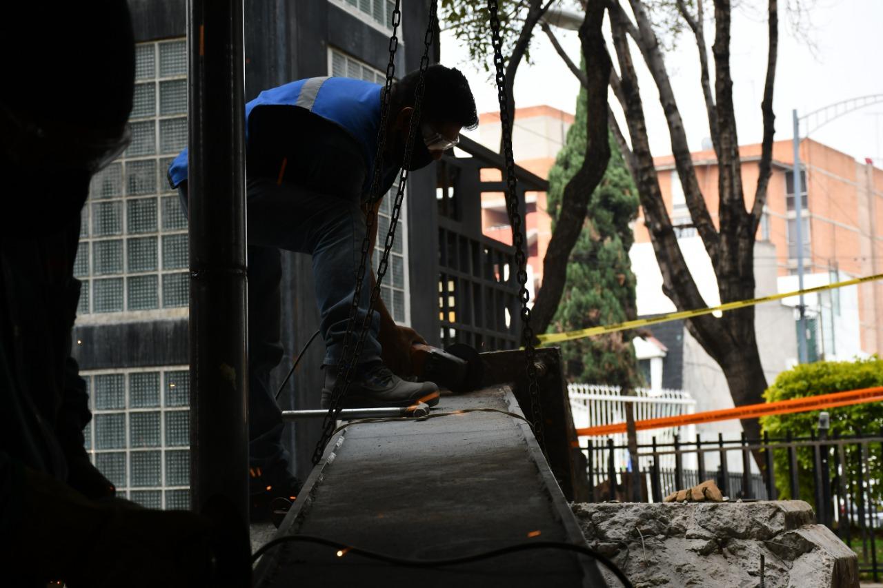 Realizan trabajos de reparación en estación Aculco