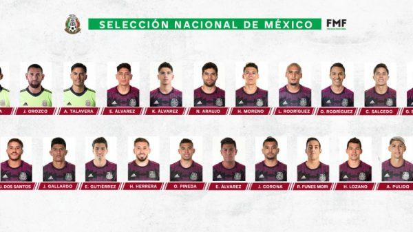 Selección Mexicana revela lista de jugadores para la copa Oro