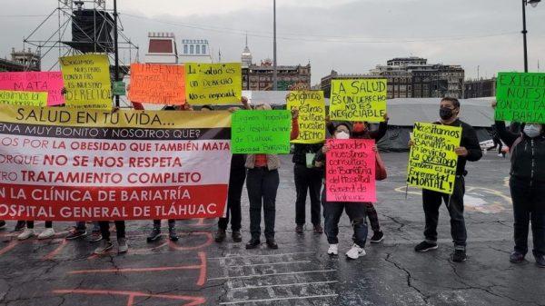 Pacientes de Clínica de Bariatría en Tláhuac, exigen reanudar consultas