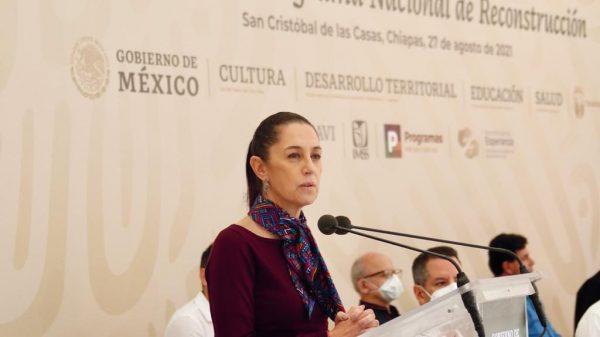 Destaca Claudia Sheinbaum reconstrucción en la CDMX