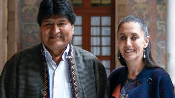 Sheinbaum se reúne con Evo Morales