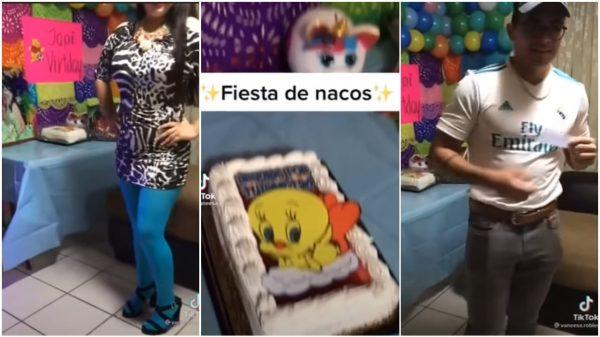 """VIDEO: Indigna fiesta de TikTokers con temática de """"nacos"""""""